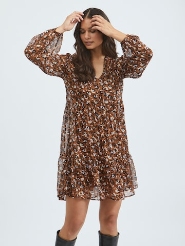 Rochie tip bluză 'Falia' de la VILA pe maro