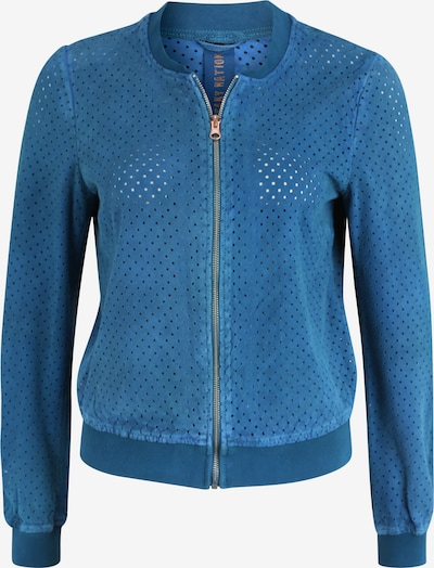 FREAKY NATION Lederjacke HAPPY in blau, Produktansicht