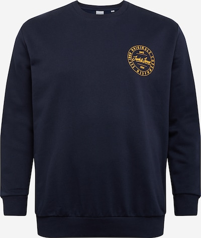 Jack & Jones Plus Sweatshirt 'MOVE' in dunkelblau / goldgelb, Produktansicht