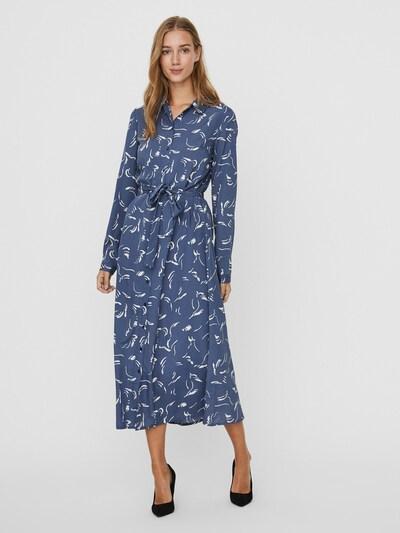 AWARE by Vero Moda Kleid 'Odea' in taubenblau / weiß, Modelansicht