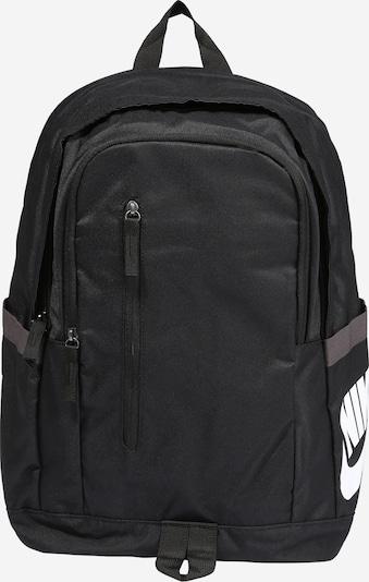 Nike Sportswear Nahrbtnik | črna / bela barva, Prikaz izdelka