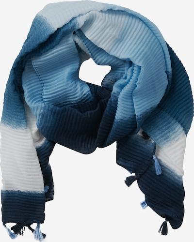 Cartoon Basic-Schal mit Bommeln in blau / weiß, Produktansicht