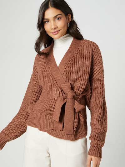 Guido Maria Kretschmer Collection Knit Cardigan 'Chiara' in Brown, View model