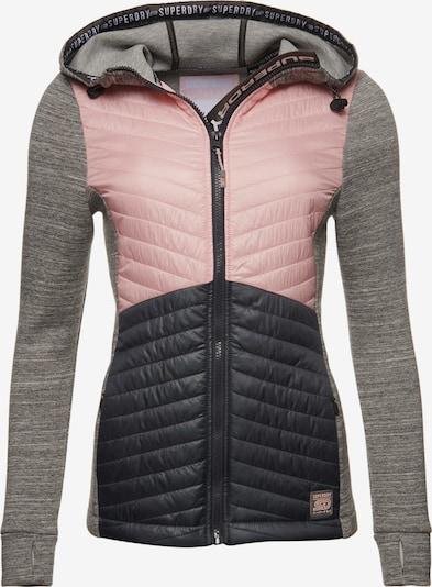 Superdry Winterjas in de kleur Marine / Grijs gemêleerd / Lichtroze, Productweergave