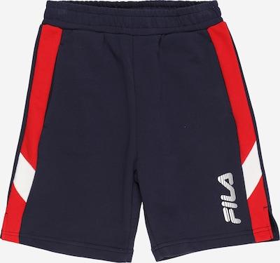 FILA Shorts in dunkelblau / rot / weiß, Produktansicht
