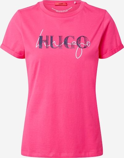 HUGO Shirt in pink / schwarz / weiß, Produktansicht