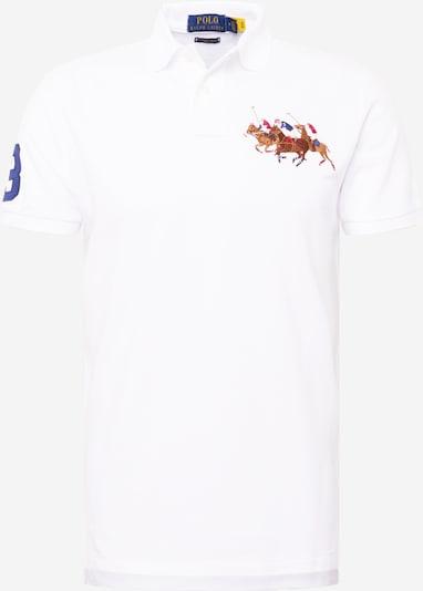 Tricou POLO RALPH LAUREN pe albastru regal / maro / roșu deschis / alb, Vizualizare produs