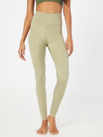 Hey Honey Workout Pants in Olive, View model