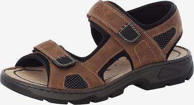 RIEKER Trekinga sandales brūns / melns, Preces skats