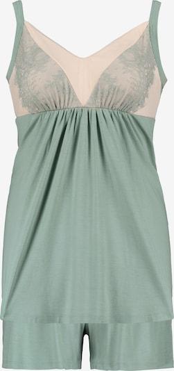 Ulla Popken Pyjamabroek in de kleur Pastelgroen / Rosa, Productweergave
