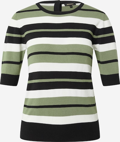MORE & MORE Pullover in grün / schwarz / weiß, Produktansicht
