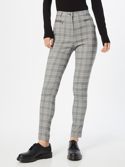Tally Weijl Pants 'BENGALINE' in mottled grey / Black / White, View model