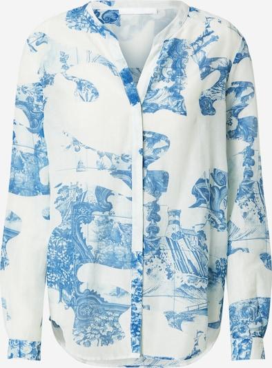 BOSS Блуза 'Befelize' в синьо / естествено бяло: Изглед отпред
