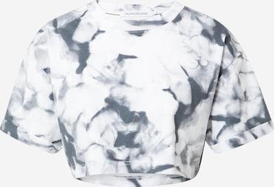 Calvin Klein Jeans Majica 'MARBLE' u siva / bijela, Pregled proizvoda