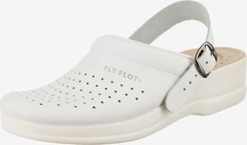 FLY FLOT Clogs in Weiß