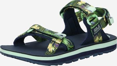 JACK WOLFSKIN Sandalias en verde / mezcla de colores, Vista del producto