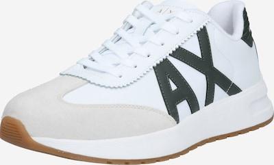 sötétzöld / fehér ARMANI EXCHANGE Rövid szárú edzőcipők, Termék nézet