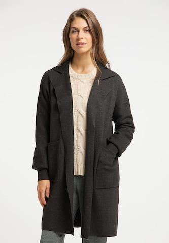 Manteau en tricot Usha en gris