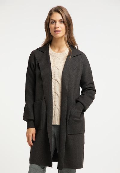 Palton tricotat Usha pe gri metalic, Vizualizare model