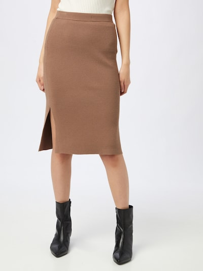 Designers Remix Skirt 'Mandy' in Brown: Frontal view