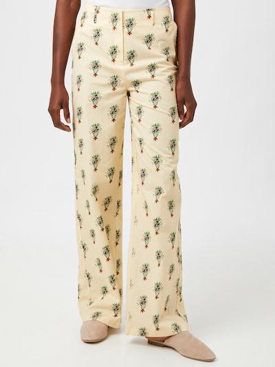 Trendyol Kalhoty - režná / zelená / černá, Model/ka
