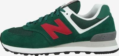 new balance Sneaker '574' in grasgrün / dunkelrot / weiß, Produktansicht