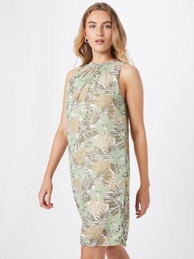 ZABAIONE Kleid 'Flara' in hellbraun / grau / mint / weiß, Modelansicht