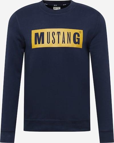 Bluză de molton 'Ben' MUSTANG pe safir / galben muștar, Vizualizare produs