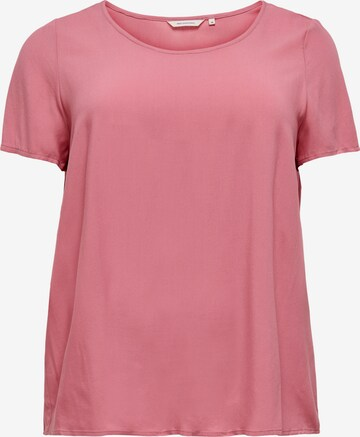 ONLY Carmakoma Shirt 'Firdtly' in Roze