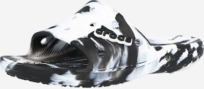 Saboți Crocs pe negru / alb, Vizualizare produs