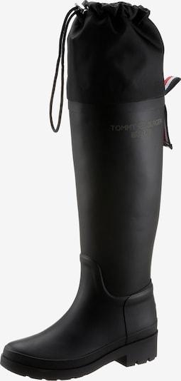 TOMMY HILFIGER Bottes en caoutchouc en noir, Vue avec produit