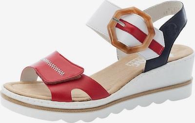 RIEKER Sandales en bleu foncé / marron / rouge / blanc, Vue avec produit