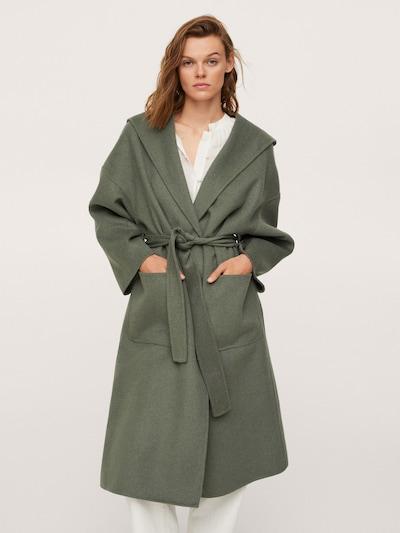 MANGO Mantel 'Mulan' in oliv, Modelansicht