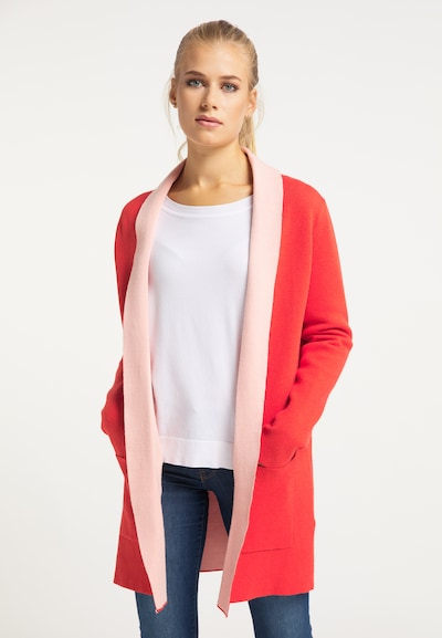 usha BLUE LABEL Strickjacke in lachs / rot, Modelansicht