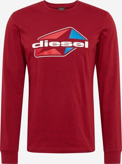 DIESEL T-Shirt en bleu / rouge / blanc, Vue avec produit