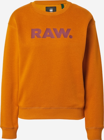G-Star RAW Sweatshirt in beere / dunkelorange, Produktansicht