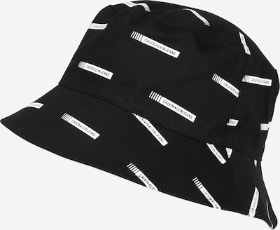 Pălărie Calvin Klein Jeans pe negru / alb, Vizualizare produs