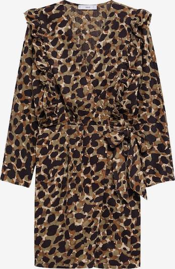 MANGO Poletna obleka 'Covita' | bež / rjava / temno rjava / oliva barva, Prikaz izdelka