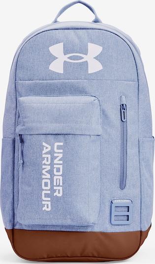 UNDER ARMOUR Sportrucksack 'Halftime' in hellblau / braun / weiß, Produktansicht