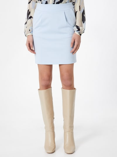 ICHI Skirt 'KATE' in light blue: Frontal view