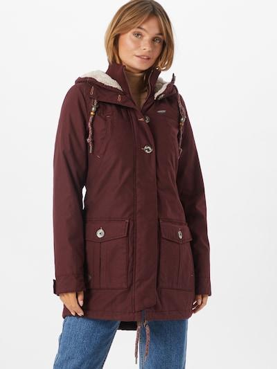 Ragwear Přechodný kabát 'Jane' - vínově červená, Model/ka