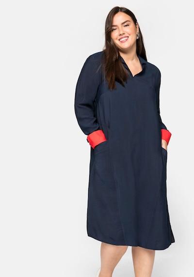 SHEEGO Šaty - noční modrá / červená, Model/ka