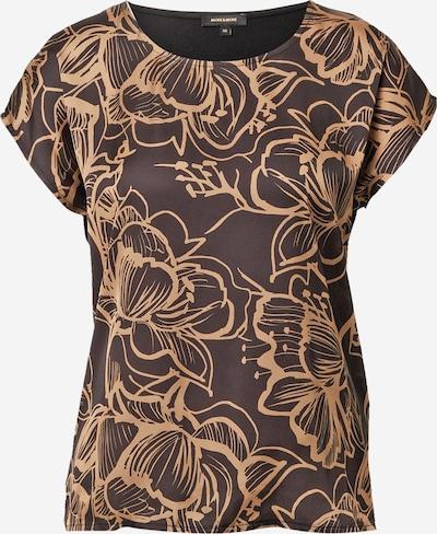 MORE & MORE Shirt in de kleur Beige / Donkerlila / Zwart, Productweergave