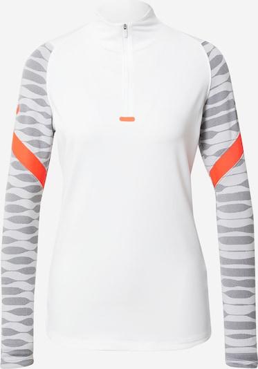 NIKE Athletic Sweatshirt 'Strike' in Grey / Graphite / Neon orange / White, Item view