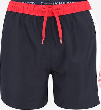 Tommy Hilfiger Underwear Badeshorts in dunkelblau / grenadine / weiß, Produktansicht