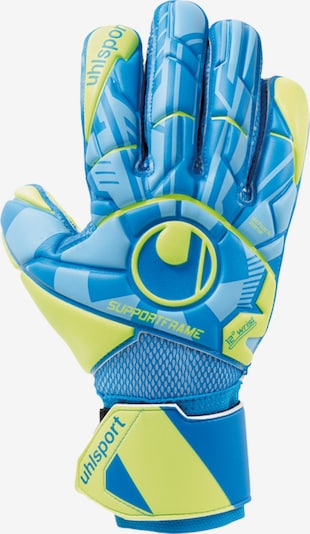 UHLSPORT Handschuh in himmelblau / neongelb, Produktansicht