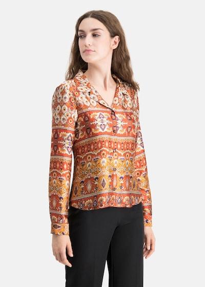 Nicowa Pyjamabluse in orange, Modelansicht