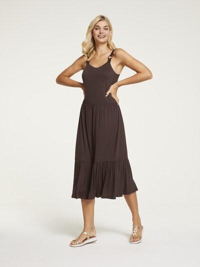 heine Kleid in schoko, Modelansicht