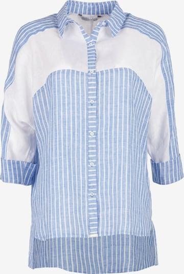 HELMIDGE Hemdbluse in hellblau / weiß, Produktansicht