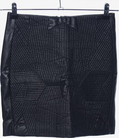 MANGO Kunstlederrock in XS in schwarz: Frontalansicht